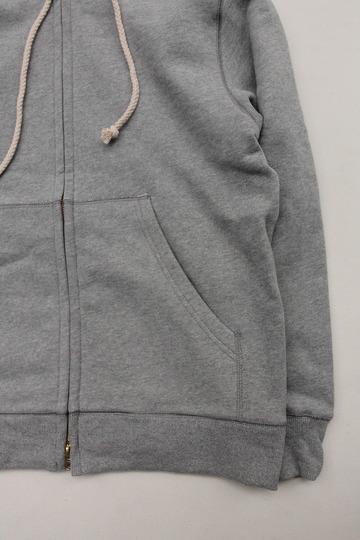 Arbre HW Cotton Fleece Zip up Sweat Parka GREY (4)