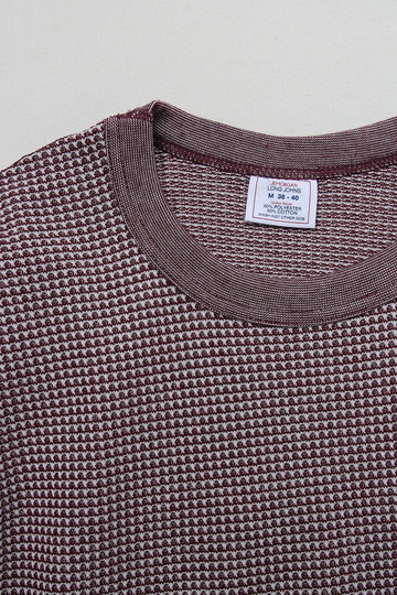 JE MORGAN Crew Neck Thermal MOKU WINE (2)