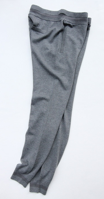 YaYa Wool Sweat Pants DARK GREY MELANGE (7)