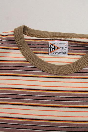 Felco SS Stripe T American Multi Stripe BEIGE (2)
