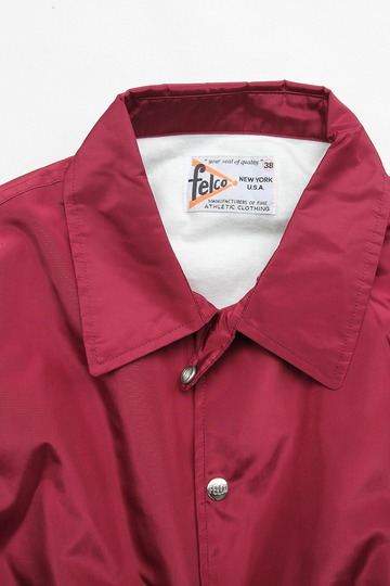 Felco Nylon Coach Jacket BURGUNDY (2)