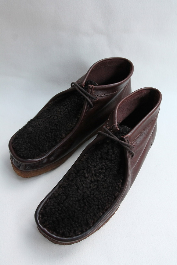 HTS Upper Sheep Skin Wallabee D BROWN (4)