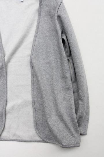 Flocon d ete Cotton Fleece Button Less Cardigan GREY (3)