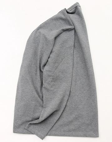 Quotidien Cotton Pique V Neck Cardigan GREY (6)