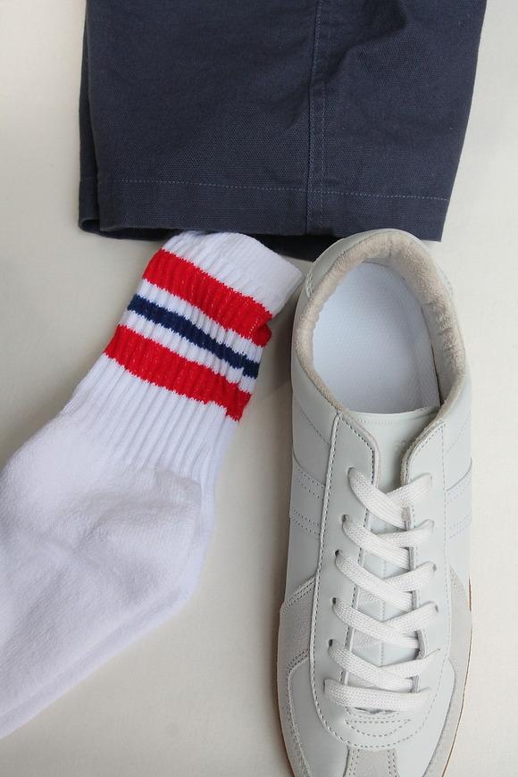 STRIP Crew Socks 9-11 RED & NAVY