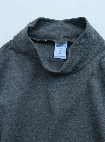 Quotidien Cotton Fleece Mockneck ANTHRACITE CHINE (3)