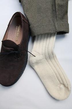 Jacob Sheep Connemara Socks NAT