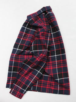 Vincent et Mireille Flannel Check Shirt BLSN NAVY CHECK (4)