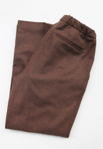 CEASTERS 2 Pleats Easy Trousers BROWN  by Burel