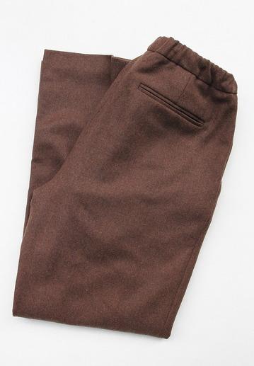 CEASTERS 2 Pleats Easy Trousers BROWN  by Burel
