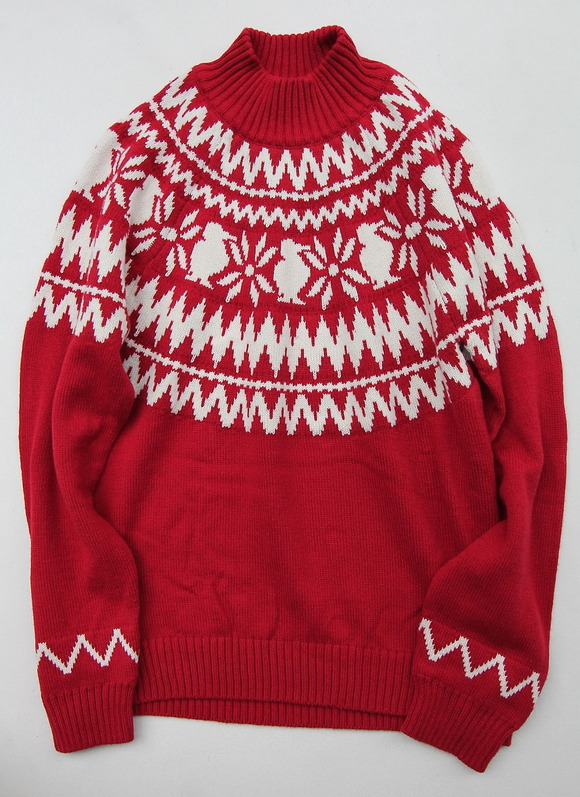 Chums Nordic Knit Top RED
