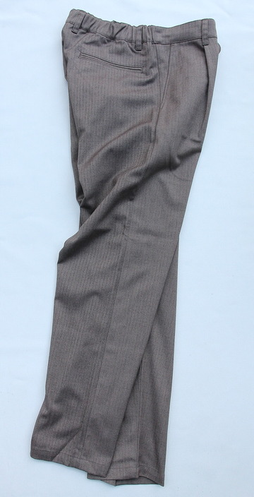 Harriss CARREMAN Stretch Heringbone 1P Tapered Pants BROWN (6)