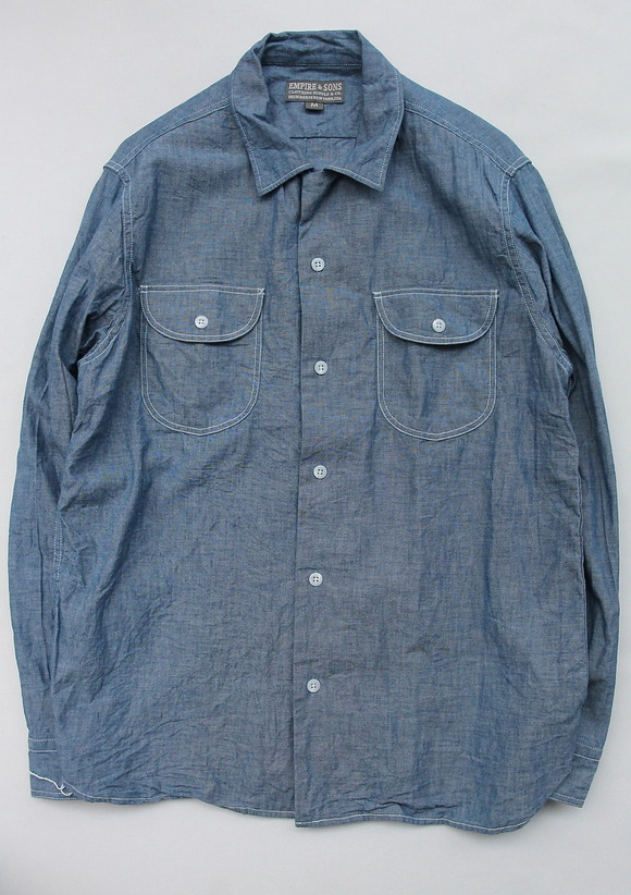 EMPIRE & SONS LS Camp Shirt Chambray BLUE