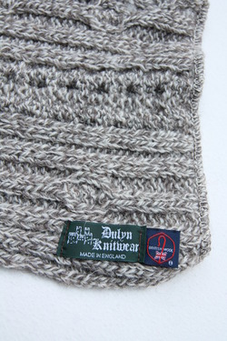 Dulyn Knitwear Snood Aran GREY TWEED (4)