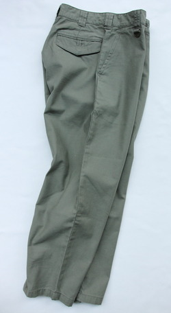 Le Ciel de Harriss Back Satin Loose Fit Pants OLIVE (8)