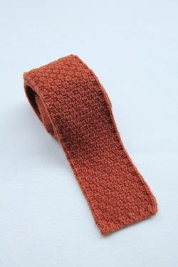 MADE IN FRANCE Wool Knit Tie ORANGE