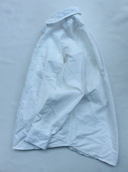 THE BAGGY Cotton Oxford Round Collarls WHITE (6)