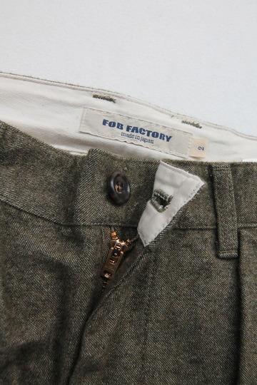 FOB 2 Tuck Wide Pants CW Back Satin OLIVE (2)