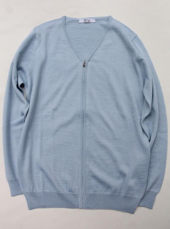 Vitter 2430 Zip Cardigan SAX BLUE
