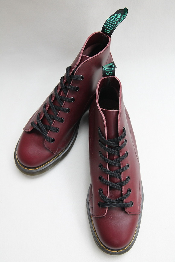 Solovair Oxblood 7Eye Monkey Boot CHERRY (2)