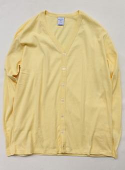 Quotidien 1X1 Cotton Rib Cardigan LEMON
