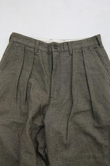 FOB 2 Tuck Wide Pants CW Back Satin OLIVE (4)