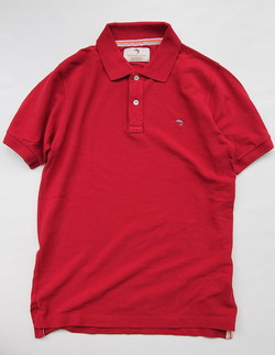 Praivate Lives Cotton Pique Polo Vintage Look RED