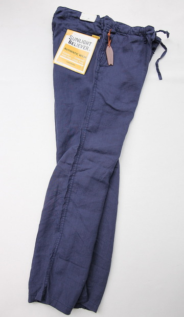 Sunlight Believer Irish Linen Relax Pants NAVY (2)