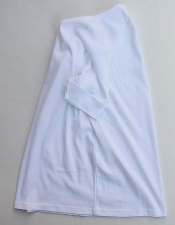 Bandol 1X1 Rib Short Sleeve Military Crew WHITE (3)