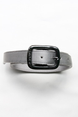 TRIPLE 1Plain Nylon Web Belt SILVER