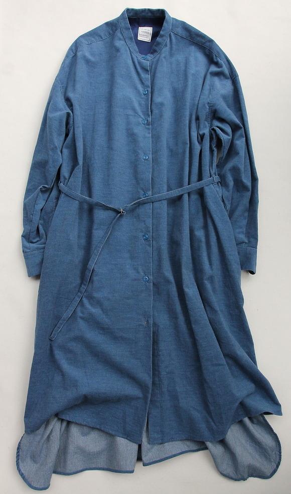 le ciel deHarriss Corduroy Button Dress BLUE