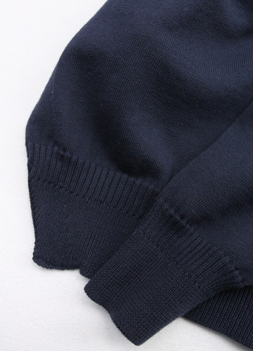 RICEMAN Knit Cardigan Button Less Loosefit NAVY (4)