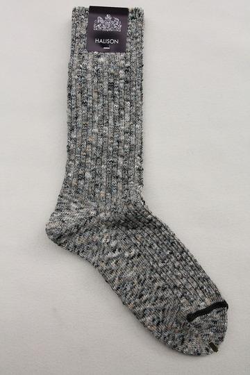 HALISON Marble Slab Rib Socks GRAY (2)