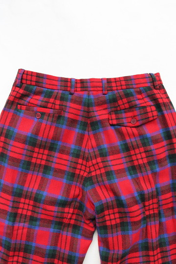 CESTERS 1 Pleats Trosuers  Burel RED Plaid (5)