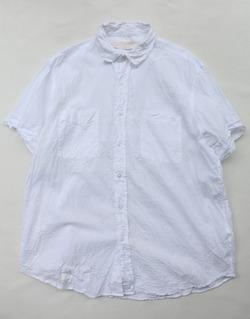 Vasy Lettlement Regular Collar SSL Oversized Shirt WHITE