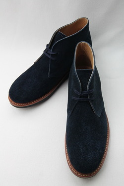 Laborer Shoes Postman Chukka NAVY Suede (2)