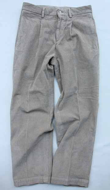 RM 1 Tuck Wide Pants 8 Well Corduroy BEIGE (5)