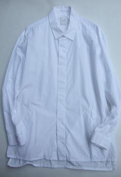 le ciel de HARRISS Broad Pocket Big Shirt WHITE