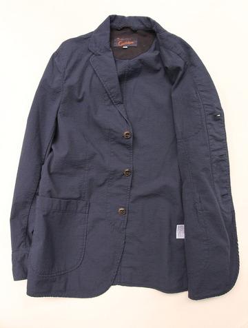 Candidum Seersucker Shirt Jacket NAVY (4)