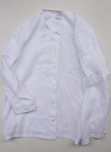Le Ciel de Harriss Broad Big Shirt with Pocket WHITE (3)