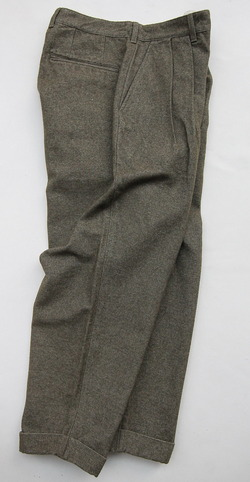 FOB 2 Tuck Wide Pants CW Back Satin OLIVE (7)