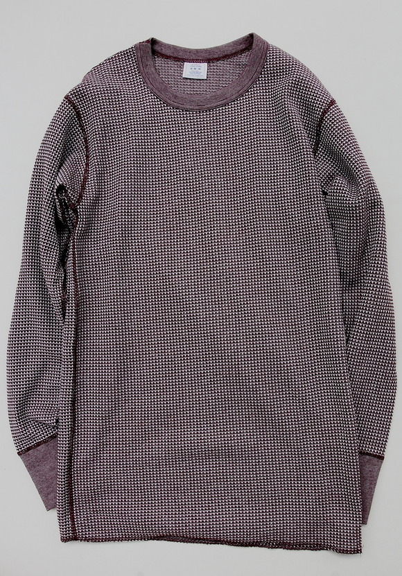 JE MORGAN Crew Neck Thermal MOKU WINE