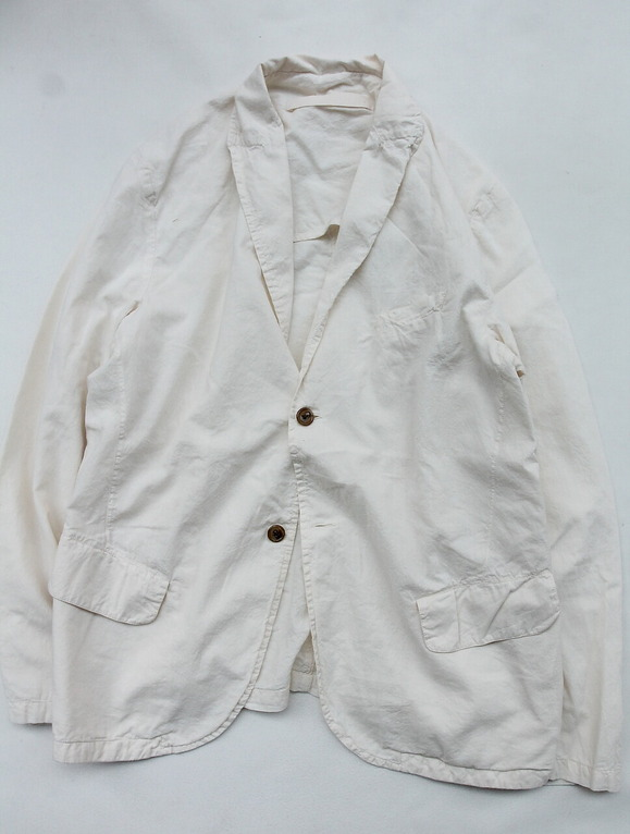 Vasy Lettlement Side Vents Tailored Jacket NATURAL (2)