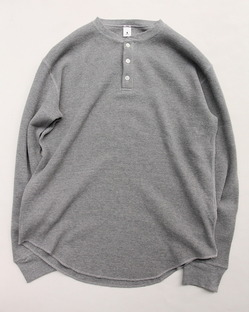 moc T Henry Neck Pullover Loose Fit Waffle