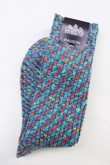 HALISON Marble Slab Rib Socks BLUE (2)