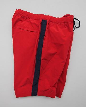 MIDA Nylon Shorts with Linner RED X NAVY (2)