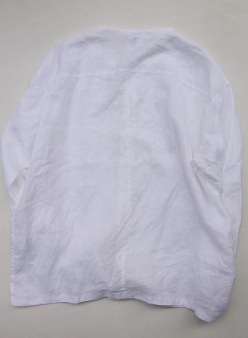 Le Ciel de Harriss Broad Big Shirt with Pocket WHITE (4)
