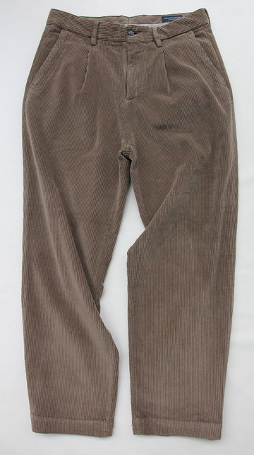 Riccard Metha Cordhuroy 1 Tuck Wide Trousers BEIGE (5)