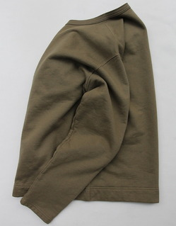 Goodon Crew Sweat Cardigan OLIVE (4)