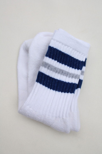 STRIP Crew Socks 9-11 NAVY & GREY (2)